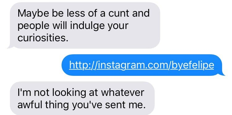 This text exchange proves why the world needs feminism