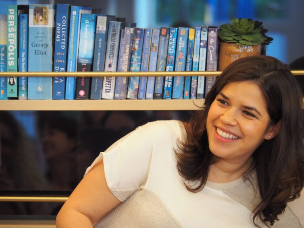 Actress America Ferrera at The Wing Dumbo © | Nikki Vargas