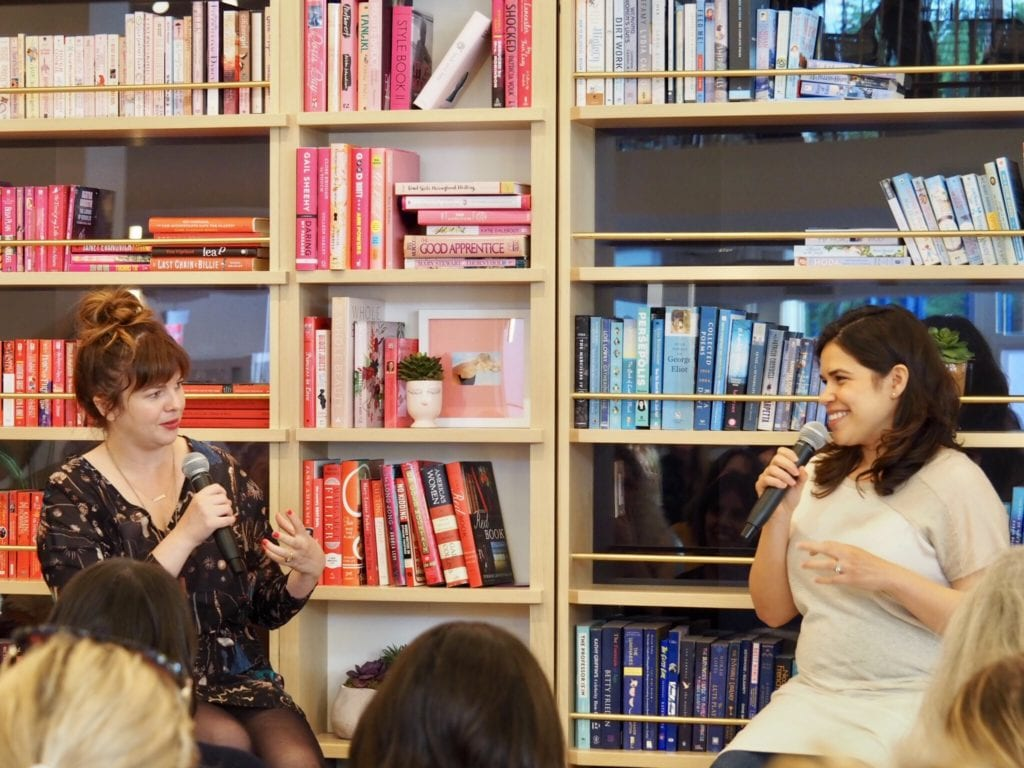 Actress America Ferrera interviews Amber Tamblyn at The Wing Dumbo © | Nikki Vargas