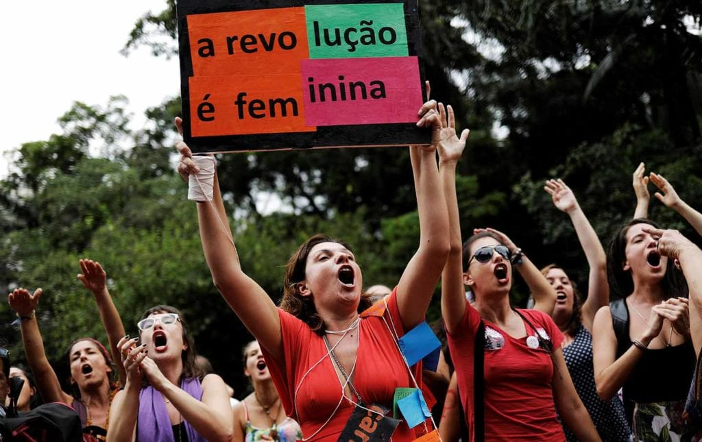 Brazilian women protest in the streets © | Reuters / Nacho Doce