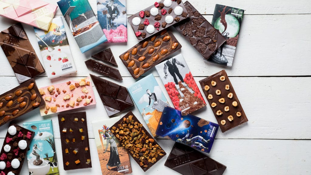 La Folie's architectural chocolate bars © | Architectural Digest India
