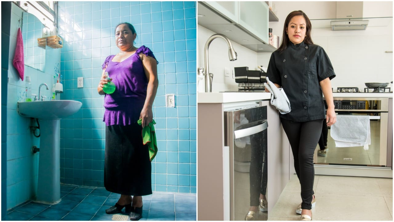 Luisa (right) Luisa Arreola Castillo (right) has been a domestic worker for 35 years and never received a vacation day. María de Aquino Valeria (left) is paid less than $300 USD per month © | Martina Žoldoš