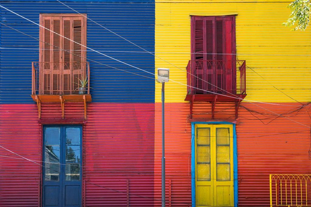 A colorful facade in Caminito in La Boca, Buenos Aires ©   Goran Bogicevic/Shutterstock