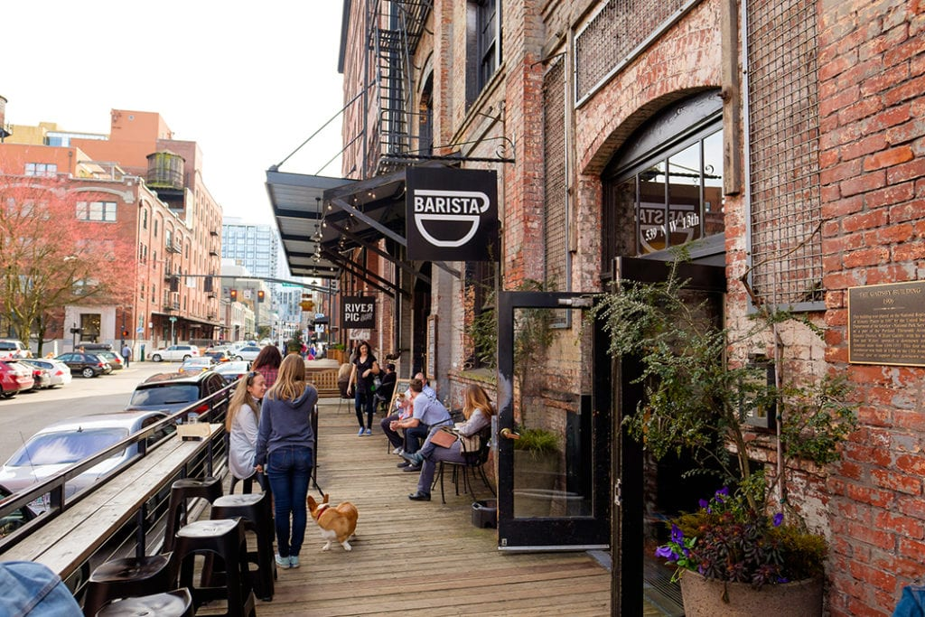 Barista coffee shop in the Pearl District of Portland Oregon   © JSTOR Daily