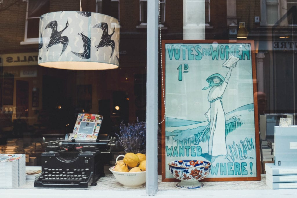 Persephone Books storefront in London | © Alex Saint