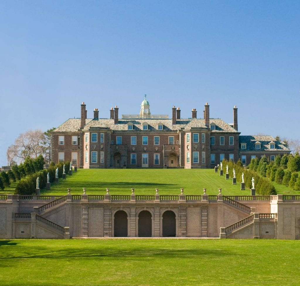 Castle Hill on the Crane Estate, Great House and restored Grand Allee | © Courtesy of The Trustees