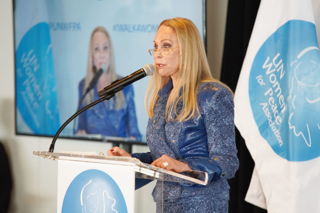 Barbara Winston speaks onstage at the UN Women For Peace Association 2019 Awards Luncheon | © Photo by Gonzalo Marroquin/Patrick McMullan via Getty Images