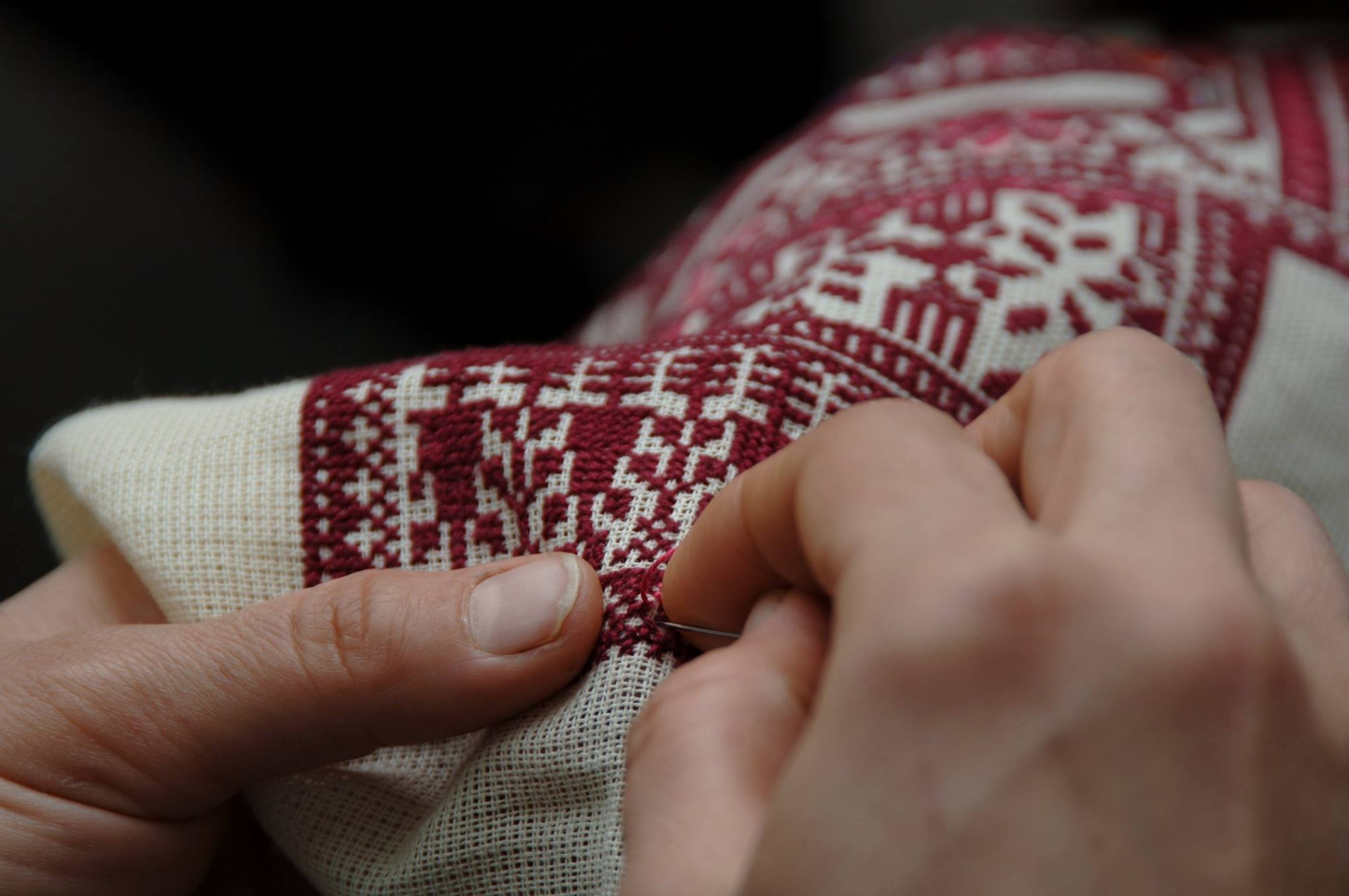 Palestinian embroidery | ©Facebook/inaashassociation