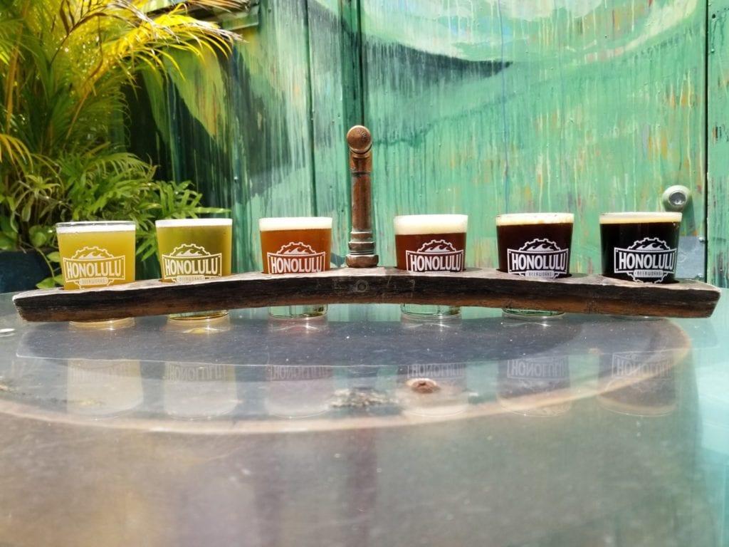Beer flight at Honolulu BeerWorks  | © Courtesy of Honolulu BeerWorks