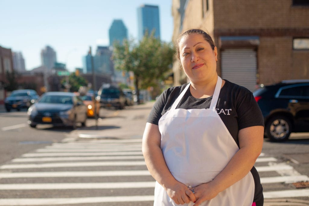 Chef Nasrin poses outside the Eat Off Beat kitchen in New York | © Phil Provencio/Unearth Women