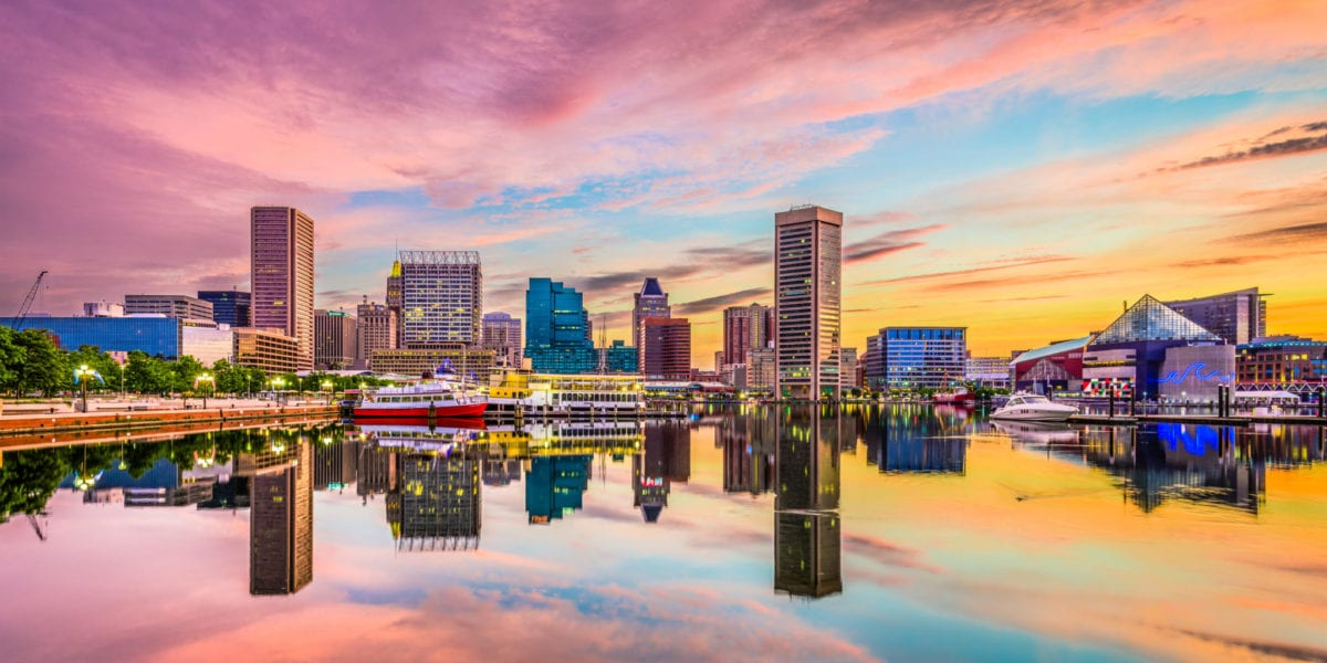 Baltimore, Maryland, USA skyline on the Inner Harbor | © Sean Pavone/Shutterstock