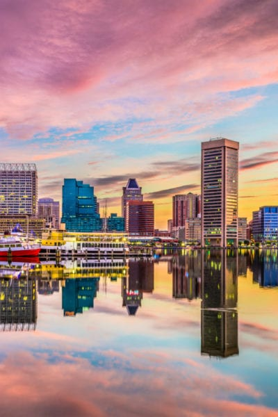 Baltimore, Maryland, USA skyline on the Inner Harbor | © Sean Pavone/Shutterstock