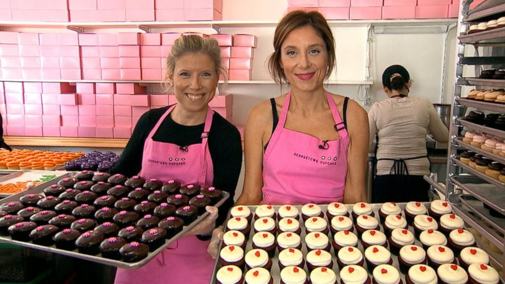 Katherine Berman and Sophie LaMontagne, Founders of Georgetown Cupcakes | ABC News