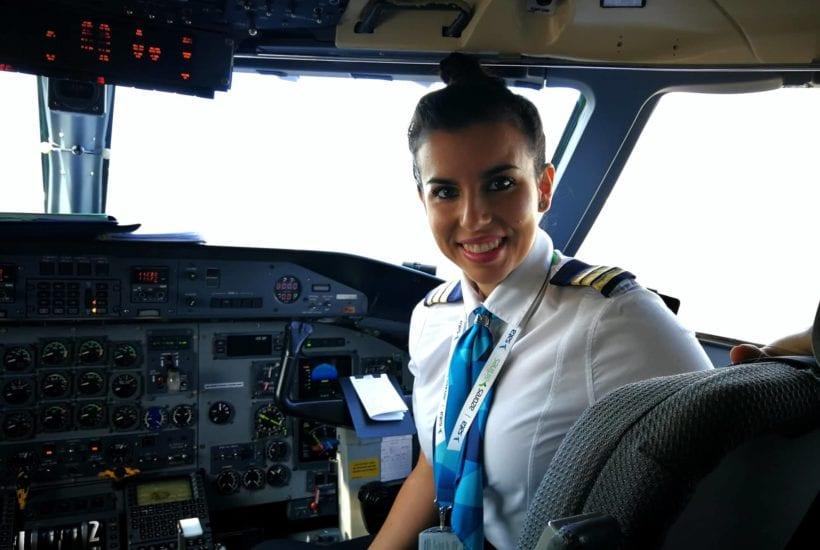 Courtesy of Pilot Valérie Bich, the first female pilot of SATA Air Azores