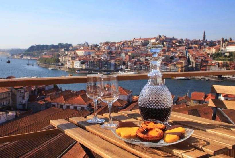 Wine glasses with a view of Porto, Portugal | © Diana Rui/Shutterstock