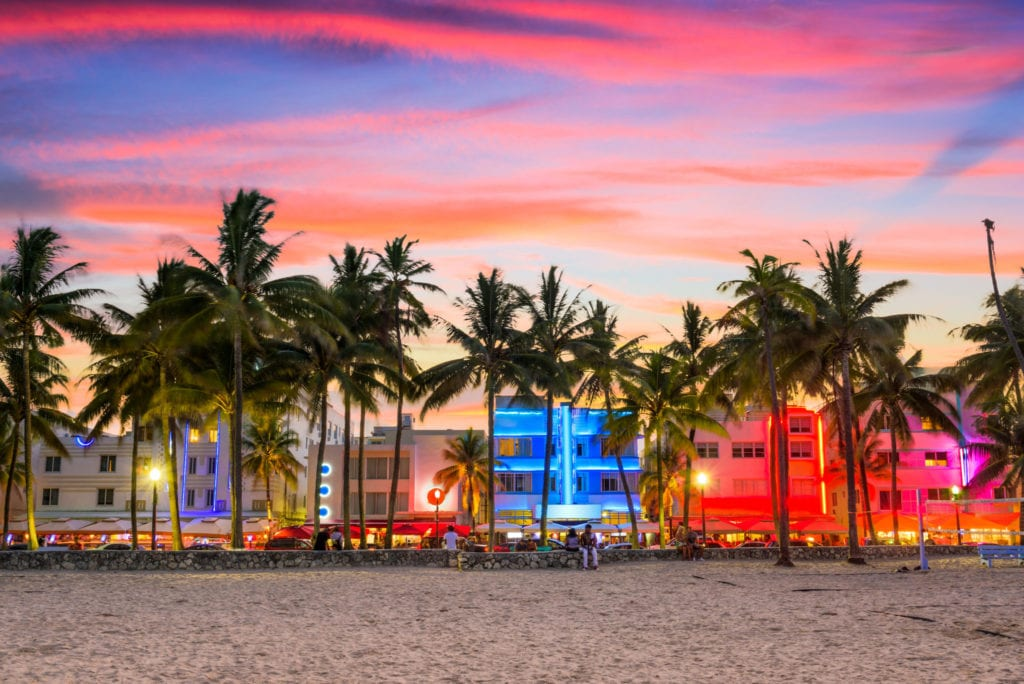 Sunset over Miami Beach | © Sean Pavone/Shutterstock