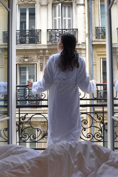 A view from the balcony of the Paris Hotel, Adèle & Jules   © Nikki Vargas