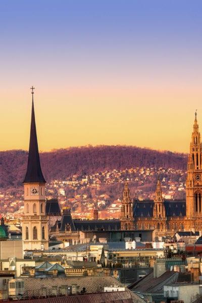 Vienna at sunset | © Alex Poison/Shutterstock