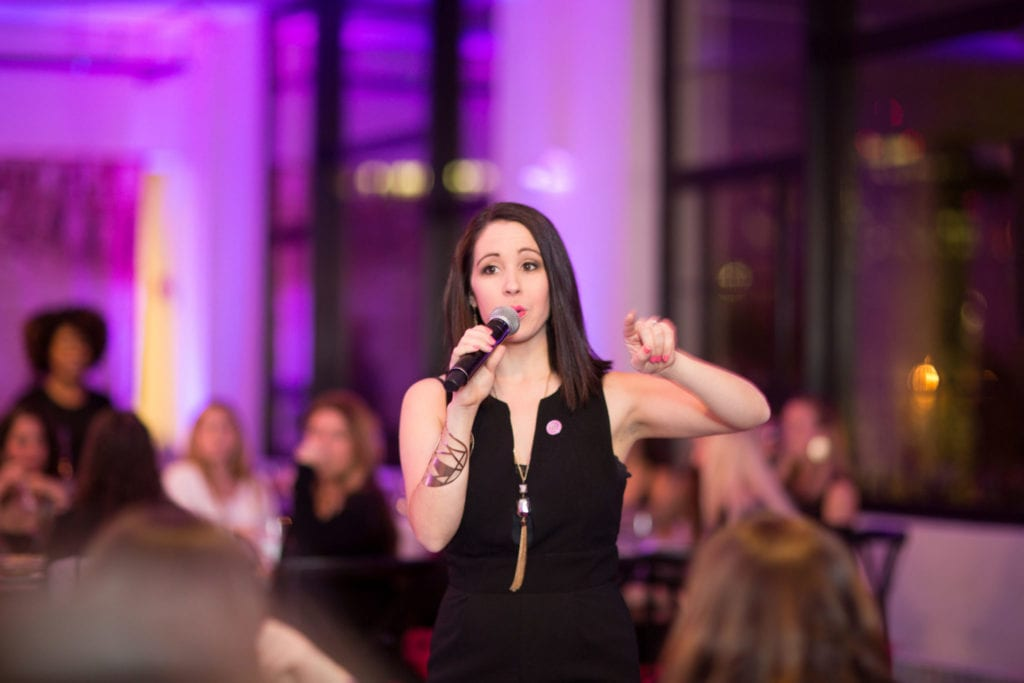 Beth Santos at the Female Founders Dinner | © Courtesy of Wanderful