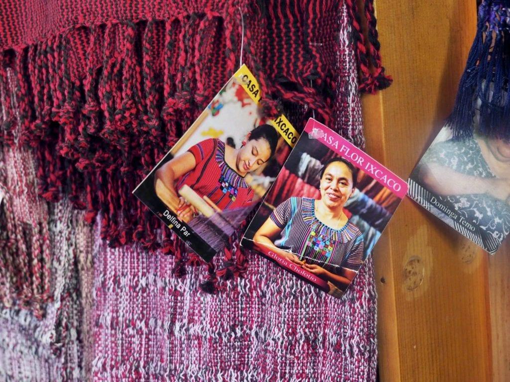 Products at Casa Flor Ixcaco showcase photos of the female artisan | © Nikki Vargas/Unearth Women