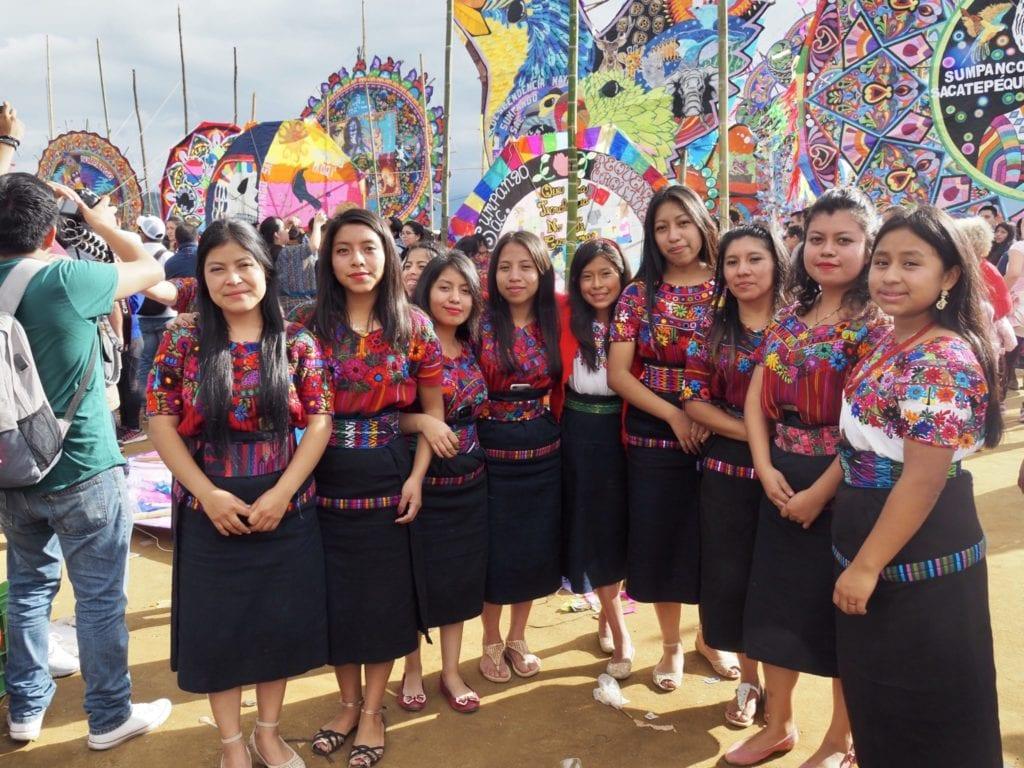 The Orquideas Oficial stand proudly at Guatemala's kite festival in Sumpango   © Nikki Vargas/Unearth Women